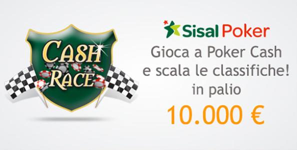 Cash Race su Sisal Poker: 10.000€ in palio!