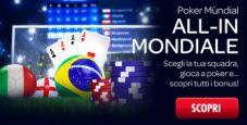 Su Sisal è Poker Mundial: scegli la tua squadra, gioca e scopri i bonus!