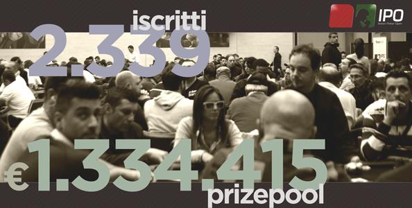 IPO 14 Day1c – Paolo Labianca chipleader! Sono 2.339 quest'anno!