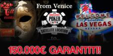 Tilt Poker Cup, dal 22 al 26 maggio Venezia ti regala le WSOP
