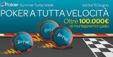 Ipoker Summer Turbo Week su Sisal Poker: 14 tornei veloci per un montepremi di 100.000€!