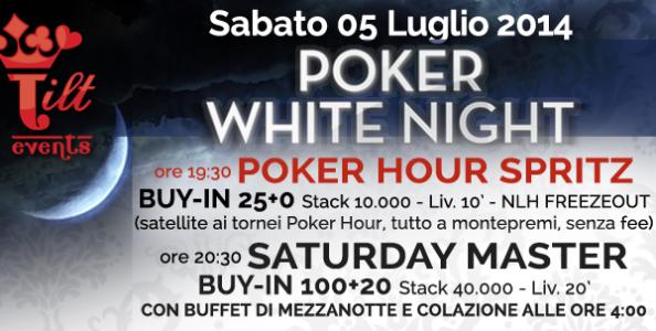 Arriva la Poker White Night di Tilt Events: un sabato sera che unisce il poker con il buon cibo e la buona musica!