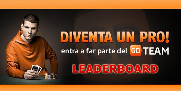 Conquista la leaderboard dedicata ed entra nel team pro di GDpoker!