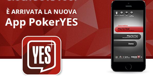PokerYes lancia la app mobile per dispositivi Android e Apple!