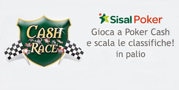 Cash Race su Sisal Poker: basta giocare per scalare le classifiche, 8.000€ in palio!