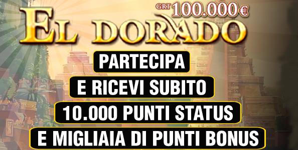 Il 16 novembre su Poker Club torna l'Eldorado 100.000€ garantiti!