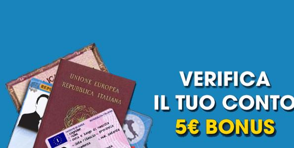 Verifica il tuo conto e scommetti su William Hill: per te 5€ IN REGALO!