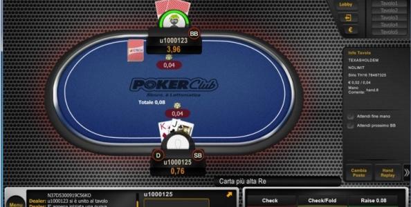 Nuova versione del software in arrivo su Poker Club: ecco il restyle grafico in corso d'opera