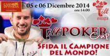 Tilt Poker Cup sesta edizione: il campione del mondo Davide Suriano presente all'Heads-Up Challenge