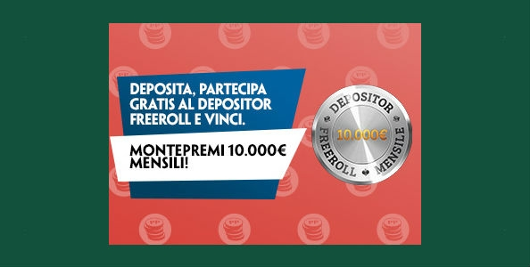 Su Paddy Power arrivano i Depositor Freeroll: ogni mese 10.000€ garantiti in palio!