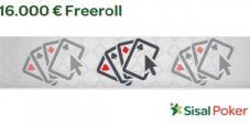 Quanti freeroll su Sisal Poker: in palio 16.000€ al mese!