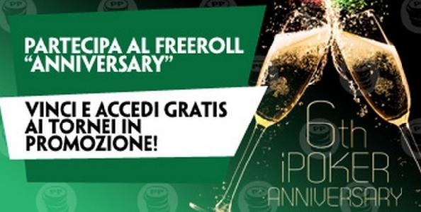 """Paddy Power festeggia il sesto anniversario di iPoker con il freeroll """"Anniversary 5.000€ FR"""""""