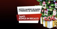 'Xmas Freeroll' su Paddy Power: ogni giorno 100€ in regalo!