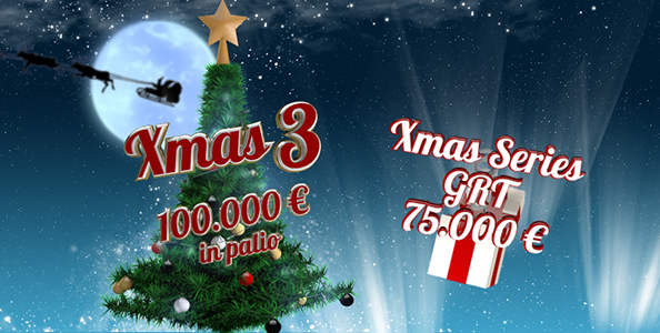 Natale coi fiocchi su Poker Club: 75.000€ con le Xmas Micro Series!