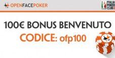 Inizia a giocare a OpenFacePoker: per te un bonus benvenuto fino a 100€!