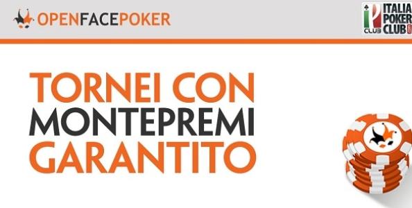 Open Face Poker lancia i primi tornei garantiti del palinsesto: 150€ GTD per il 2 febbraio!