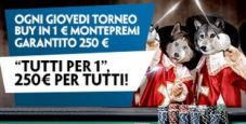 'Tutti per 1' su Paddy Power: ogni giovedì mtt low buy-in con struttura High-Stakes e 250€ in palio!