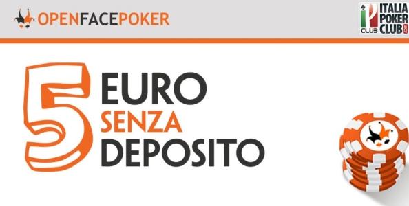 5€ in regalo senza deposito per giocare su OpenFacePoker!