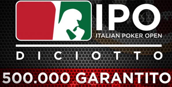 Ad aprile torna l'Italian Poker Open con un garantito di mezzo milione di euro!