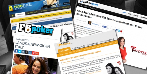 Kara Scott testimonial di Tilt Events: la notizia fa il giro del mondo