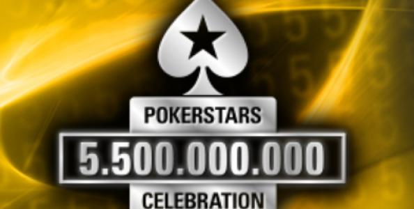 'PokerStars 5.500.000.000 Celebration': tantissimi euro in palio grazie a 161 mani Milestone!
