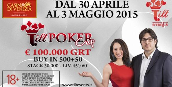 La Tilt Poker Cup torna a Venezia dal 30 aprile al 3 maggio: esordio per Kara Scott e Giovanni Rizzo!