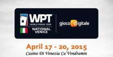 Il WPT National torna in Italia: due tappe a Venezia, c'è la novità Sanremo!