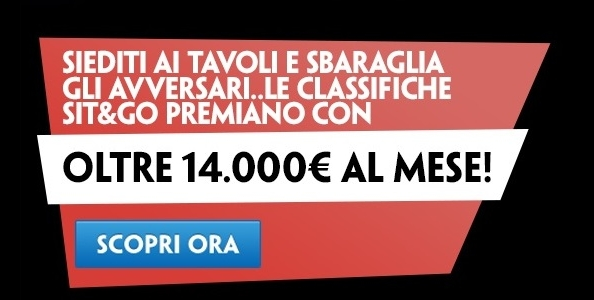 Le classifiche SNG di Paddy Power: in palio 3250€ a settimana!