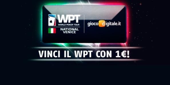 Partecipa ai SNG e ai freeroll di GDpoker: in palio ticket gratuiti per volare al WPT National Venezia!