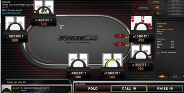 Novità epocale su Poker Club: arrivano i tornei multi-entry!