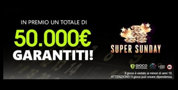 Su Titanbet Poker è in arrivo la Super Sunday: in palio un montepremi garantito di 50.000€!