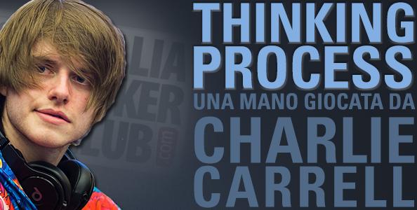 Thinking Process – Charlie Carrell e lo shove river in bluff su Kitai all'High Roller EPT Malta