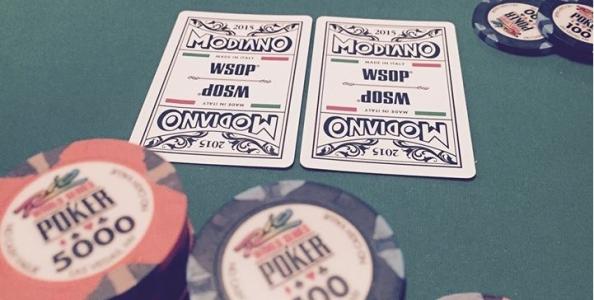 """WSOP – Cristiano Guerra sui mazzi Modiano: """"Che bello vedere il tricolore sulle carte WSOP!"""""""