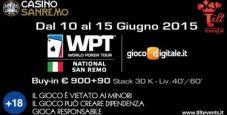 Il WPT National sbarca a Sanremo! Main event da 990€ dal 12 al 15 giugno