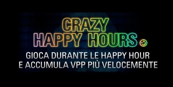 Su PokerStars.it arrivano le Crazy Happy Hours: indovina i tavoli e ottieni il 50% in più di VPP e FPP!