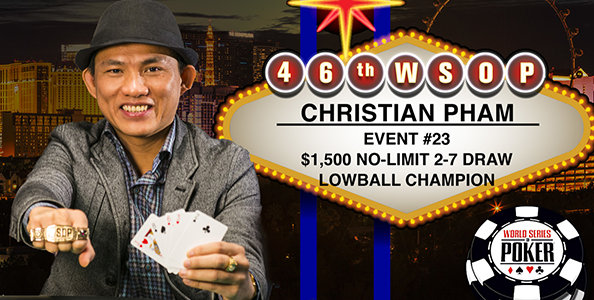 Si iscrive al torneo sbagliato e vince il braccialetto senza conoscere le regole: l'errore magico di Christian Pham