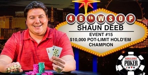 WSOP – Dario Sammartino chiude sesto al PLH da 10.000$, Shaun Deeb conquista il braccialetto!