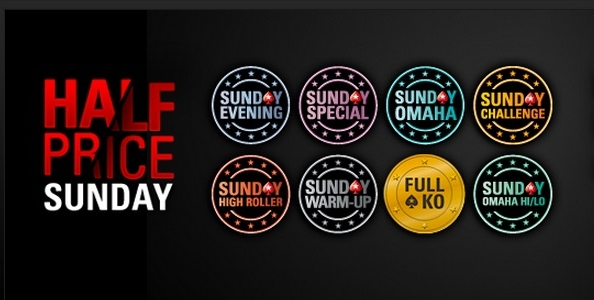 Su PokerStars.it arriva la domenica Half Price: i principali tornei del palinsesto a buy in dimezzato!