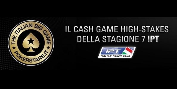 The Italian Big Game: qualificati su PokerStars.it per il cash game High Stakes della settima stagione IPT