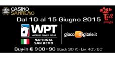 Torna il grande poker a Sanremo: segui il WPT National con il nostro Video Social Blog Live
