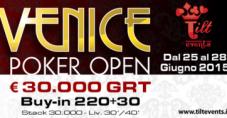 250€ di buy-in e 30.000€ garantiti: il Venice Poker Open di Tilt Events torna a Ca' Noghera!