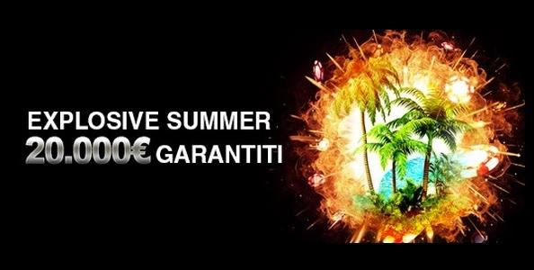 Su Titanbet Poker è in arrivo l'Explosive Summer: ogni domenica 20.000€ garantiti!