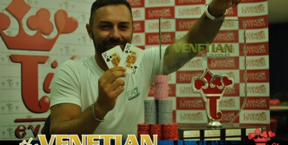 Sfondato il garantito di 100.000 € al Venetian Game: vince Luigi Ginobbi