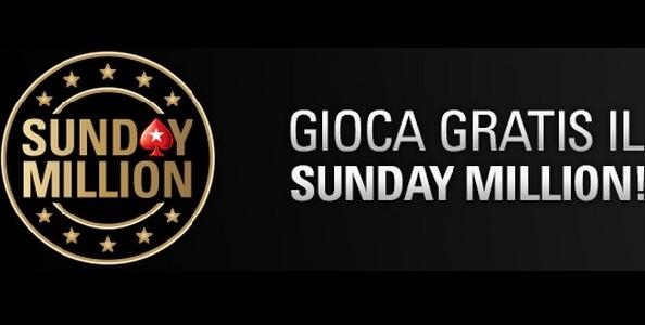 Gioca GRATIS il Sunday Million: tre ticket in palio nel nostro FREEROLL ESCLUSIVO!!!