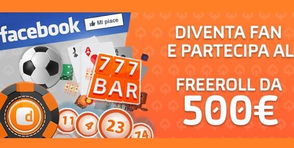 Su Gioco Digitale arriva il GD Facebook Freeroll: fino a 1500€ di montepremi garantito!