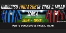 Scommetti sul derby di San Siro con NetBet Sport: per te un bonus fino a 20€ se vince il Milan!