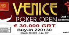 Venice Poker Open XVII! 250€ di buy-in e 30.000€ garantiti a Ca' Noghera!