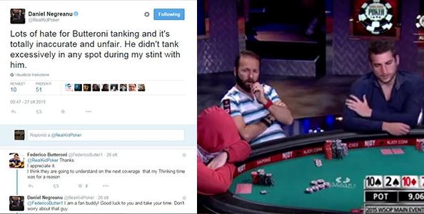 """Negreanu difende Butteroni su Twitter : """"Non ha mai tankato troppo quando ero al tavolo con lui"""""""