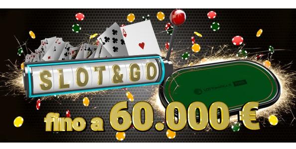 Su Lottomatica.it Poker arrivano gli Slot&Go: fino a 60.000€ in palio in pochi minuti di gioco!