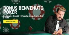 Lottomatica.it Poker: sfrutta il Bonus Benvenuto del 100% fino a 950 €!